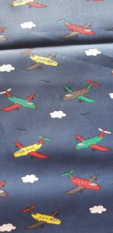 Cotton Fabric Planes Cars Owl New in Ramstein, Germany