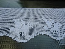 long hand crocheted valance in Ramstein, Germany