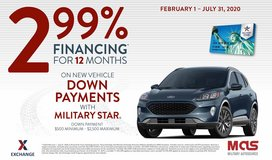 2.99% Financing for 12 Months Military AutoSource ON-BASE in Wiesbaden, GE