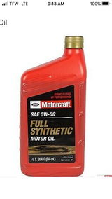 6 quarts full synthetic 5W50 engine oil in Alamogordo, New Mexico