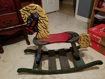 Wooden rocking horse in Cleveland, Texas