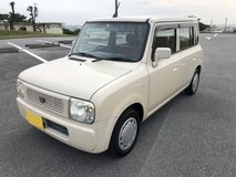 Replace to NEW AC Compressor, Belt & Fan Belt Suzuki Lapin Beige 2yrs JCI (Done Sterilized) in Okinawa, Japan