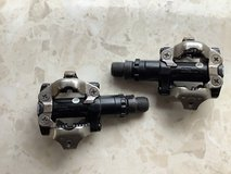 Clip Pedals + Shoes Set: Size 8 US in Okinawa, Japan