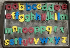 Magnetic Alphabet Letters on Cookie Sheet in Okinawa, Japan
