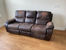 Leather Dual Recliner Couch from Havertys in Fort Belvoir, Virginia