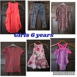 bundle of girls clothes. age 6 years in Lakenheath, UK