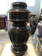 Decorative wood post in Conroe, Texas