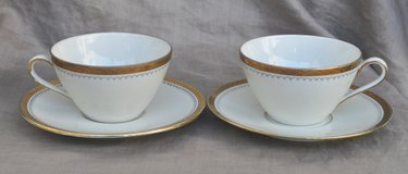 German vintage porcelain cups (2) and saucers for tea or coffee in Okinawa, Japan