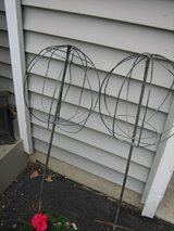pair of wire topiary in Naperville, Illinois