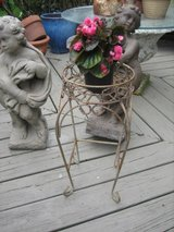 gold metal plant stand in Naperville, Illinois