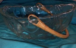 Clear Glass Basket with Bamboo Handle in Fort Campbell, Kentucky