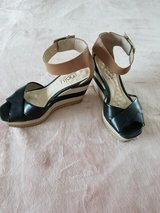 Woman's Black Malu Wedges Shoes in Camp Lejeune, North Carolina