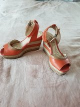 Woman's Coral Malu Wedges Shoes in Camp Lejeune, North Carolina