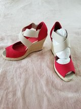 Woman's Red GAP Wedges Shoes in Camp Lejeune, North Carolina