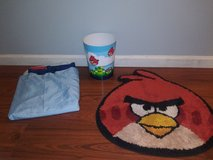 Angry Birds bathroom lot in The Woodlands, Texas
