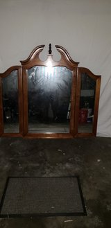 Vintage Traditional Style Tri-Fold Mirror (Reduced) in Camp Lejeune, North Carolina