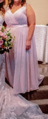 Beautiful blush pink gown in St. Charles, Illinois