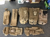 USMC CIF Issue MBITR 152 Radio Pouches Carrier Coyote in Camp Pendleton, California