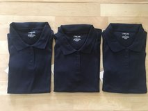 New with Tags! Girls' Navy Blue Collared Uniform Polo Shirt (3 available) in Naperville, Illinois