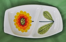 Italian vintage ceramic plate/tray for aperitivo time in Okinawa, Japan