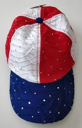 NEW Womens Sequined Hats ~ black or red white blue Baseball Caps * one size adjustable in Bolingbrook, Illinois
