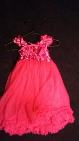 Boutique Broghtt pink dress 3-6 T depending on where you want it to hit baby girl at the bottom in Fort Leonard Wood, Missouri
