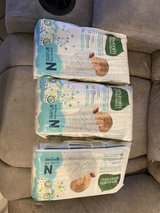 Size 0 N Newborn diapers in Nellis AFB, Nevada