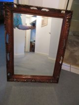 Beautiful Antique Beveled Mirror Hand Carved Wood Frame in Cleveland, Texas