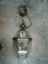 Hanging porch light in Alamogordo, New Mexico
