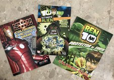 NEW Iron-Man & Ben10 Coloring & Activity Book+FREE Comic Book in Okinawa, Japan