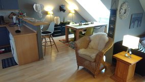 1BR TLA Apt with AC, 5min from RAB, downtown loft conversion [Ref: M4]] in Ramstein, Germany