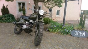 Classic Maico 250 Army Bike in Spangdahlem, Germany