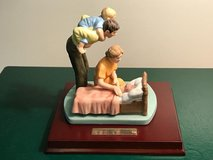 """Limited Edition """"Tucking Children into Bed"""" by Norman Rockwell Porcelain Figurine in Okinawa, Japan"""