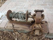 Vintage mechanical chain winch with cable / hook PJ1 PJ2 - $75 in Batavia, Illinois