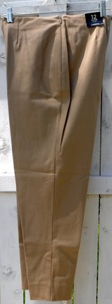 "New! Sz 12 Lands End Slim Leg Stretch Pants - 32"" Waist - 25.25"" Inseam in Orland Park, Illinois"