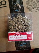 Glitter snowflake ornament pack of 20 in Yorkville, Illinois