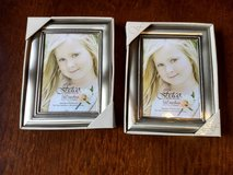 """Fetco Home Decor 5"""" x 7"""" Silver Color Frames - Set of 2 - NEW in Kingwood, Texas"""