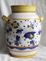Italian handmade terracotta vase for flowers in Okinawa, Japan