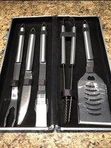 New Stainless Steel Grill  Tool Set w/Storage Case in Batavia, Illinois
