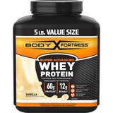 twin pack of Body Fortress Super Advanced Whey Protein Powder, Vanilla, 60g Protein, 5lb, 80oz in Mountain Home, Idaho