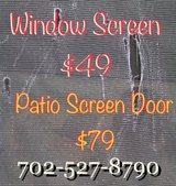 Re-screen patio doors & windows  or get new window screens in Nellis AFB, Nevada