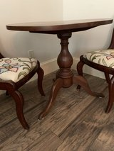 Walnut table with 2 chairs in Kingwood, Texas