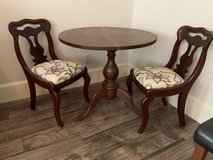 Walnut table with 2 chairs-reduced in Conroe, Texas