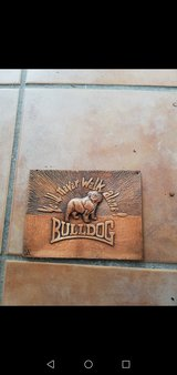 Bulldog sign decoration copper Kupferstich antique in Ramstein, Germany