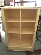 Vintage yellow chippy cabinet w/drawer in St. Charles, Illinois