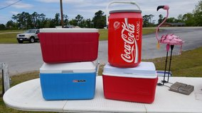 Red & White Coleman Cooler #1334-1598 in Camp Lejeune, North Carolina