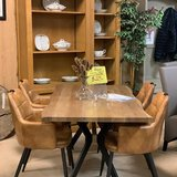 Replica oak 160cm dining table (chairs not included) in Ramstein, Germany