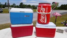 Blue & White Coleman Polylite Cooler #1265-5265 in Camp Lejeune, North Carolina