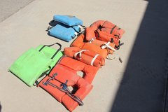Box of Life Jackets and Throw Cushions in Alamogordo, New Mexico