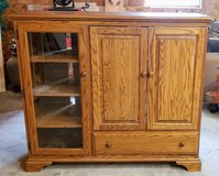 Media Cabinet - Solid Oak in Cleveland, Texas